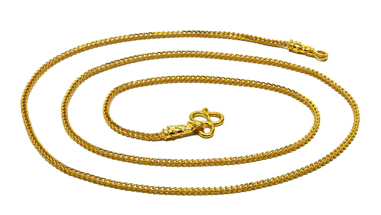 "23k gold Franco style 20"" Thai Baht gold chain"
