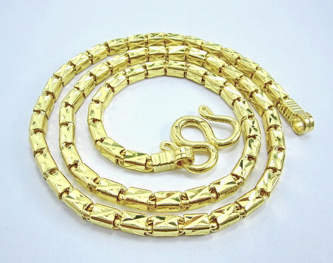 10 BahtThai Bar link 23k gold chain