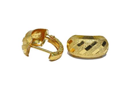 18k gold small huggie back Thai earrings
