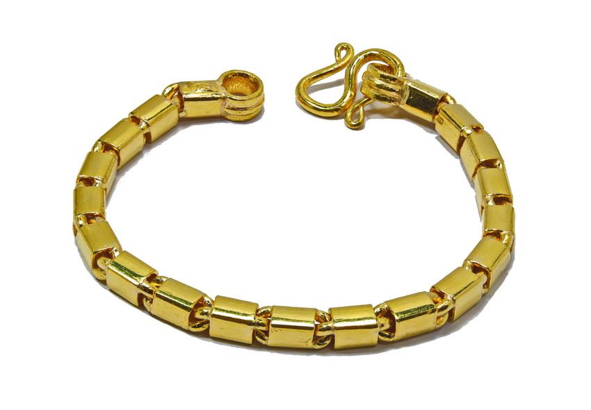 23k gold Thai Bar link bracelet