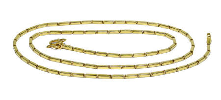 BAR Link 1 Baht 23k gold highly polished chain