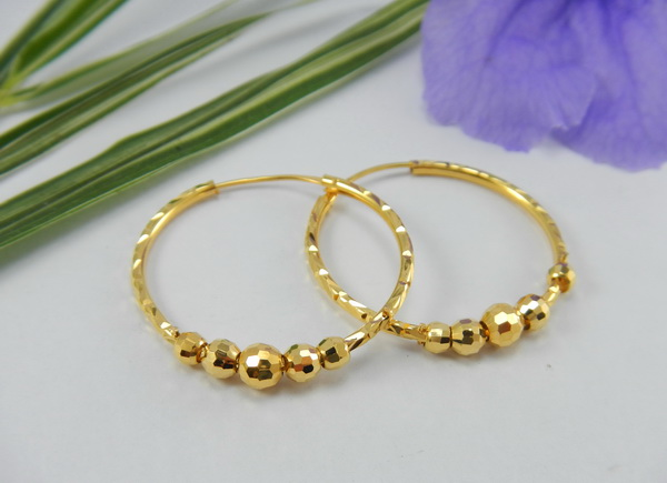 Thai 18K gold earrings
