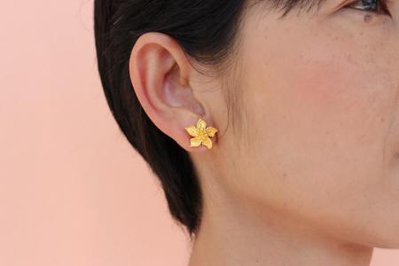 23k gold Floral Earrings 2