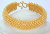 Rare Thai Pikun 23K gold bracelet