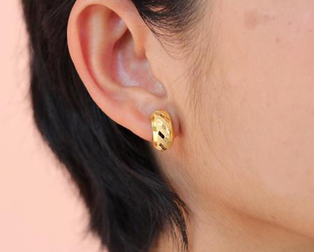 18k gold thai earrings