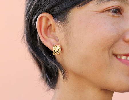 18k gold solid Thai Earrings