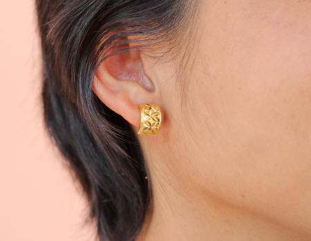 18k gold earrings lever-backs
