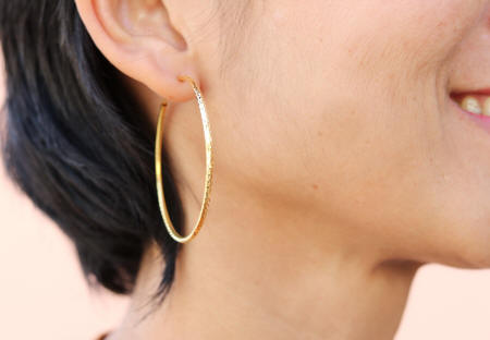 18k gold earrings hoops DC