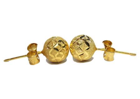 18k gold round stud earrings