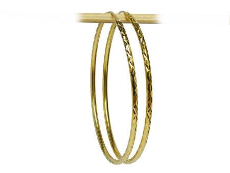 18k gold Thai large hoop earrings