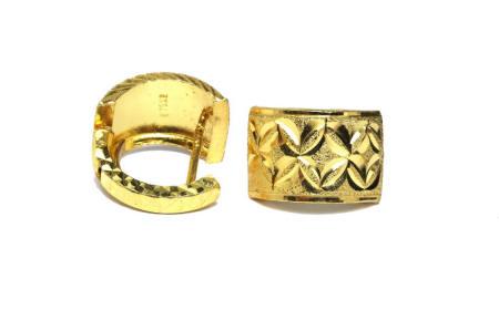 18k gold Thai LV back earrings