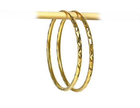 18k gold small hoop earring