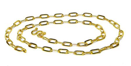 Thai Baht 23k gold Oval link chain