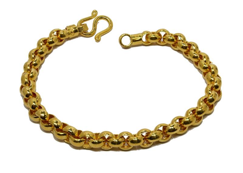 23k gold Rolo Thai Baht gold bracelet